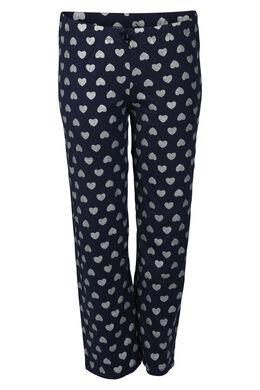 Pyjamabroek met hartjes, Marineblauw