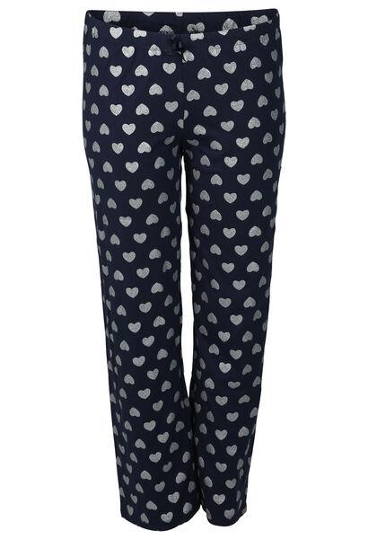 Pyjamabroek met hartjes - Marineblauw