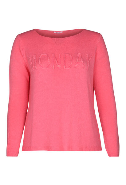 "Pull inscription ""Monday"" - Rose"