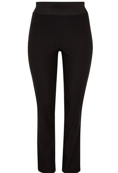 Geklede broek met elastische taille - Zwart