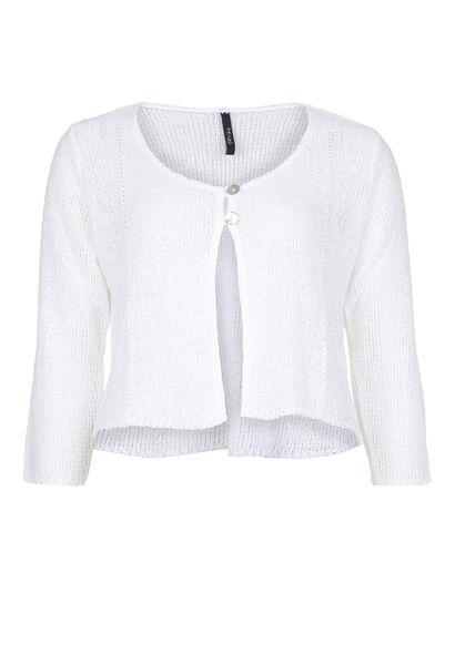 Cardigan van licht tricot - Wit