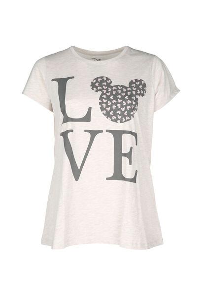 T-shirt de nuit imprimé - Beige