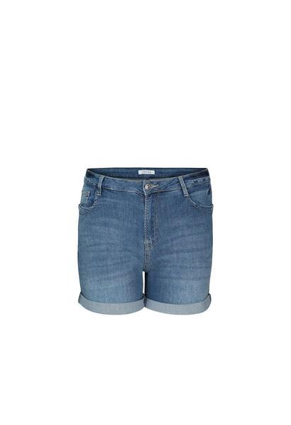 Jeansshort met ringetjes - Denim