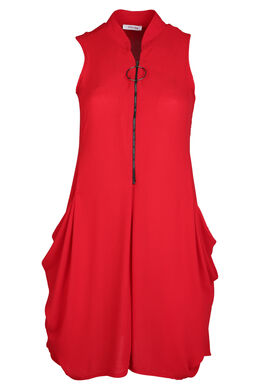 Robe tunique, Rouge