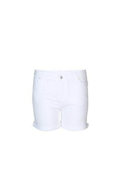 Katoenen short met 5 zakken - Wit