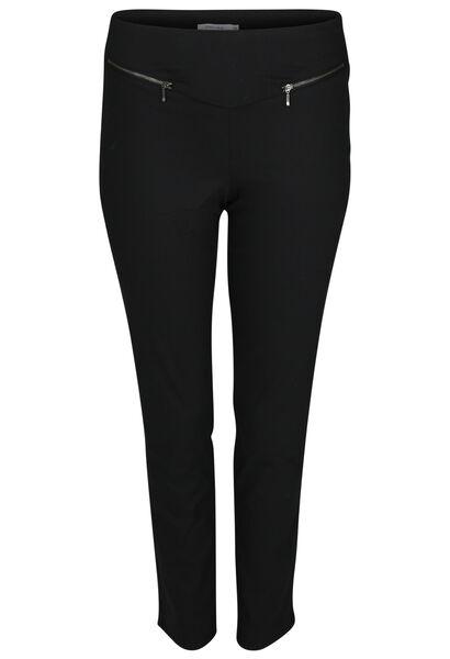 Pantalon bengaline zip - Noir