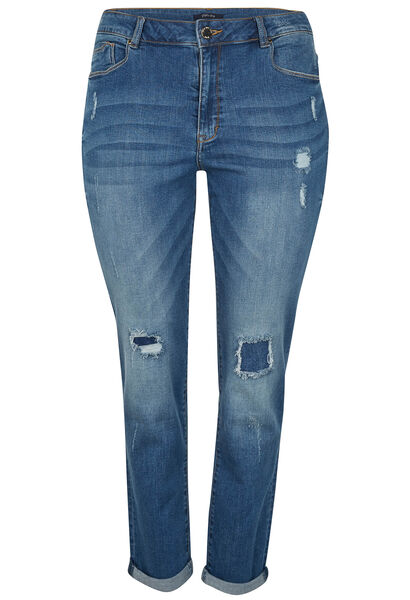 Slim jeans gescheurd effect - Denim