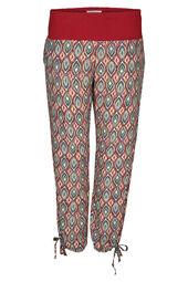 Pantalon en fibranne imprimé ethnique