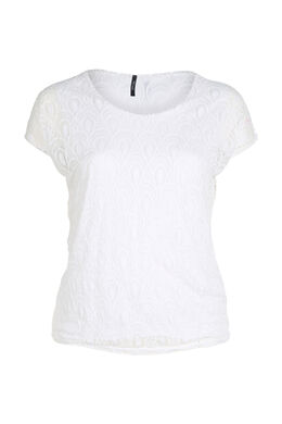 Blouse met lovertjes, Wit