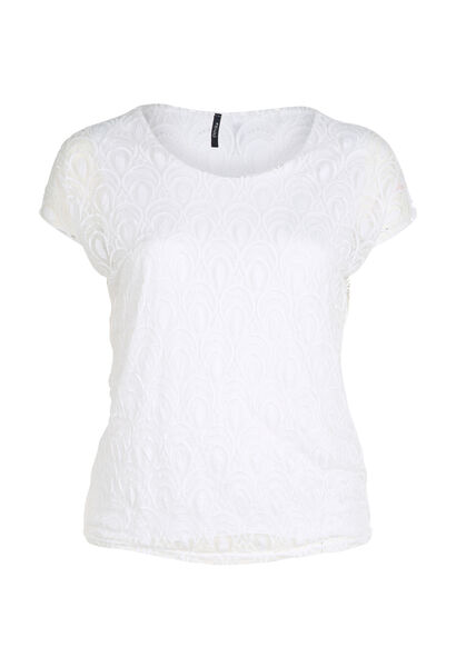 Blouse met lovertjes - Wit