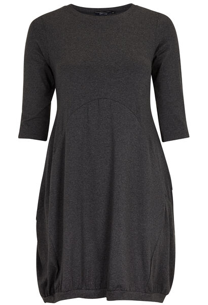 Robe en maille t-shirt - Anthracite