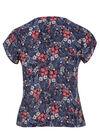 Shirt met strik , Marineblauw