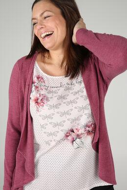 T-shirt effet 2 en 1, Vieux rose