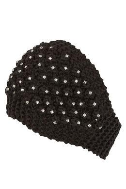 Haarband met strassteentjes, Zwart
