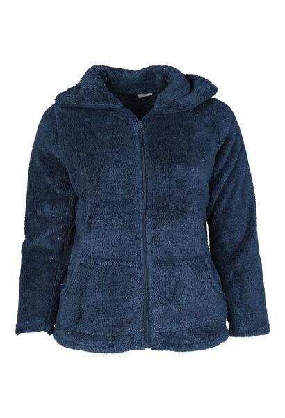 Zacht jasje met lurexgaren - Marineblauw