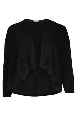 Korte cardigan, Zwart