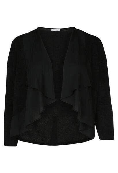 Korte cardigan - Zwart