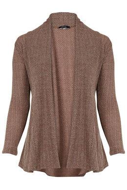 Lang vest van warm tricot, Blush