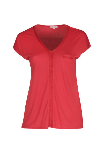 T-shirt in viscose - Oranje
