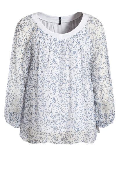 Ruime bloes kraag met lovertjes - Wit