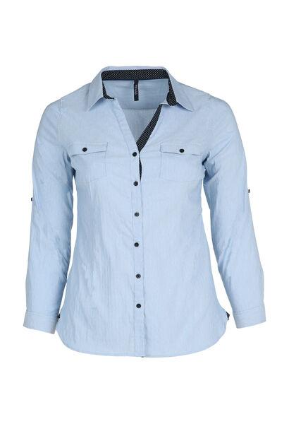 Klassieke blouse met knoopjes - Lichtblauw