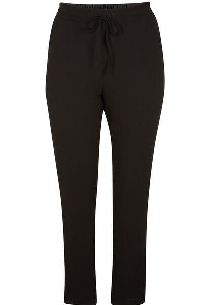 Soepel vallende broek - Zwart