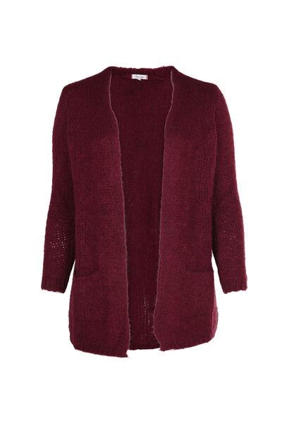 Long cardigan en tricot - Bordeaux