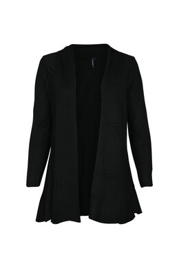Long cardigan, Noir