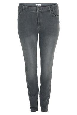 Geborduurde jeans, Grijs