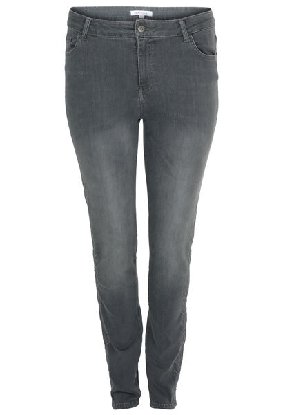 Geborduurde jeans - Grijs