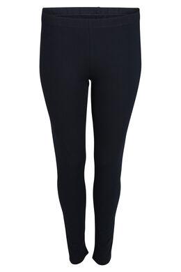 Lange legging van biokatoen, Marineblauw