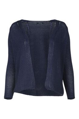Cardigan in luchtig tricot, Indigo