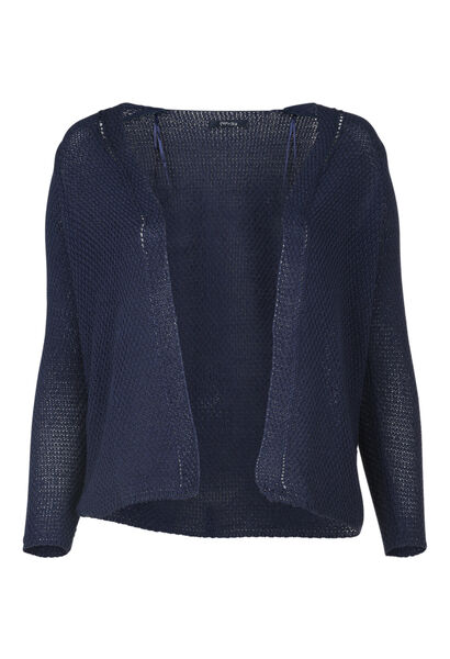 Cardigan in luchtig tricot - Indigo