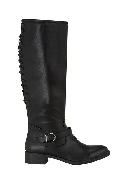 Rijglaarzen - Zwart