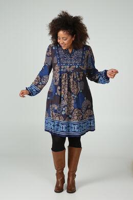 Bedrukte jurk, Indigo