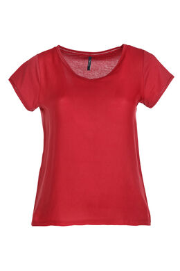 T-shirt van twee stoffen, Brons