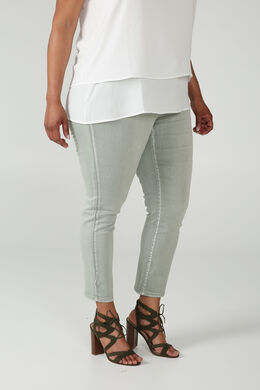 Pantalon slim urbain, Kaki-clair