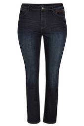 Rechte jeans met 5 zakken