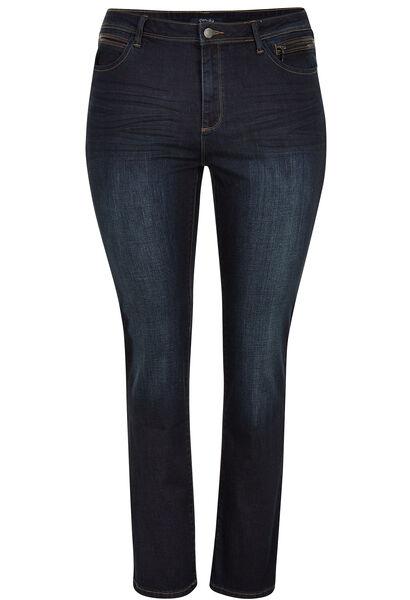Jean 5 poches coupe droite - Denim