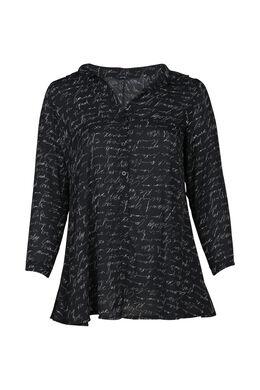 Lange blouse, Zwart