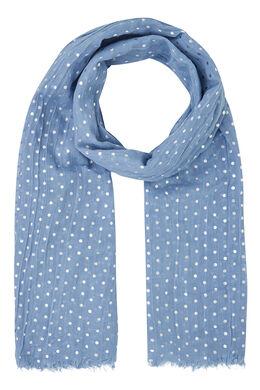 Sjaal met bolletjesprint, Lavendel