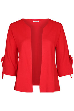 Cardigan manches larges avec noeud, Rouge