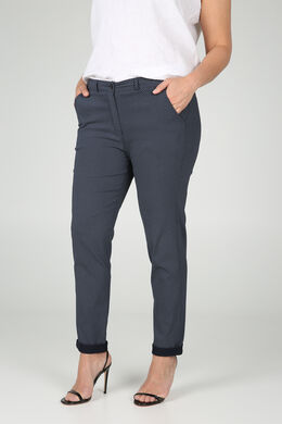 Pantalon en Bengaline imprimé, Marine