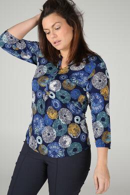 T-shirt met cirkels, Bic blauw