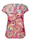 T-shirt in bedrukt kreuktricot, Multicolor