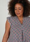 T-shirt bedrukt met geometrische vorm, Indigo