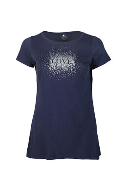 Long t-shirt imprimé love, Marine