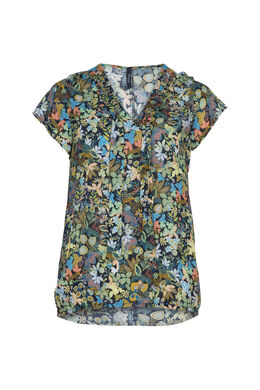 Blouse imprimé jungle, multicolor
