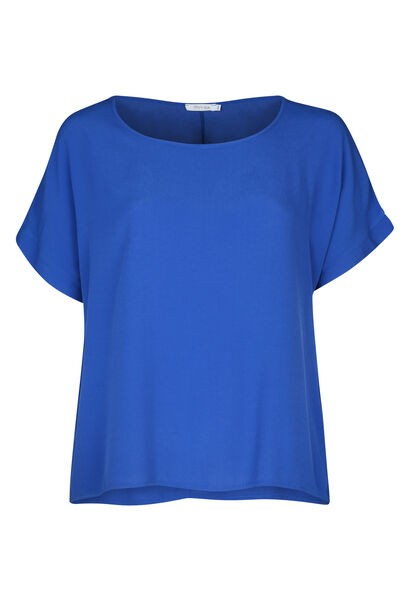 Blouse ample à manches courtes - Bleu Bic