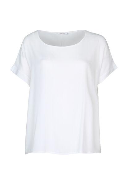 Blouse ample à manches courtes - Blanc